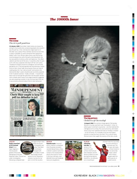 1000th issue of The Independent